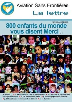 Lettre 51 - Janvier 2003