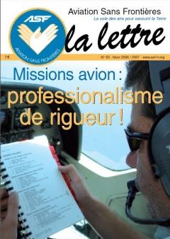 Lettre 63 - Janvier 2007