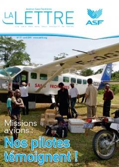 aviation sans frontières - la Lettre N°77 - Avril   2011