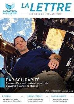visuel de la Lettre 109 d'Aviation Sans Frontières Thomas Pesquet parrain
