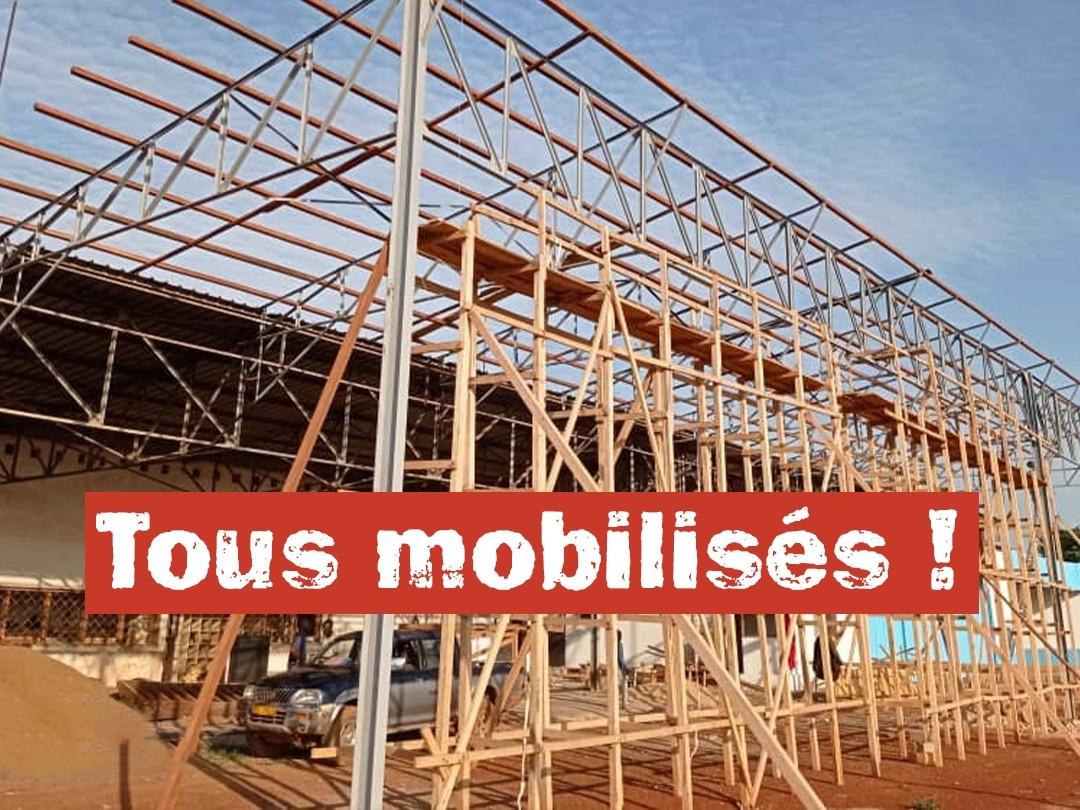 Aménagement d'un hangar en centre de maintenance à l'aéroport de Bangui-M'poko
