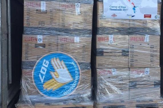 Le mouvement Aviation Sans Frontières en Europe : LOG vient en aide aux réfugiés syriens du camp d' Elpida Home  de Thessalonique