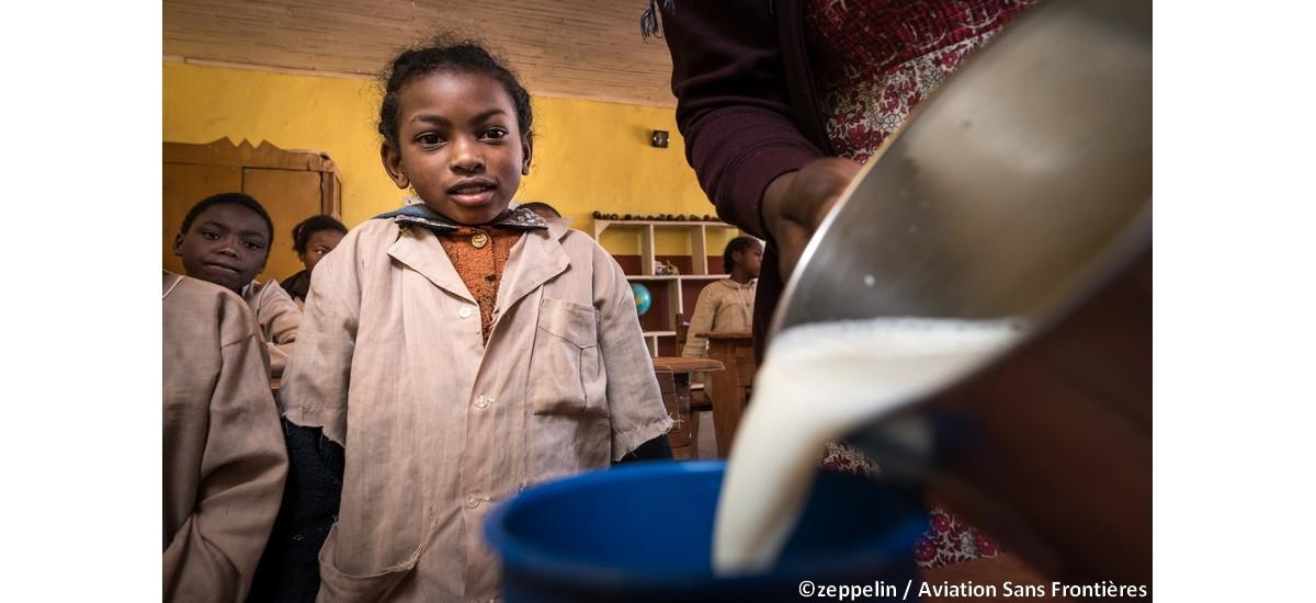 Mission Lait à Madagascar : des centaines d'enfants bénéficiaires